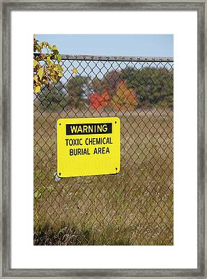 Toxic Dump Sign Framed Print by Jim West