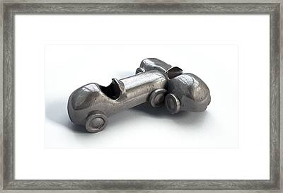 Toy Car Collision Framed Print