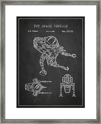 Toy Space Vehicle Patent Framed Print by Aged Pixel