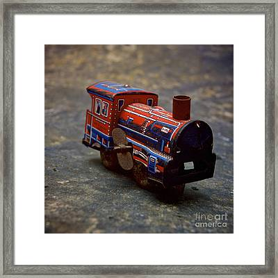 Toy Train. Framed Print by Bernard Jaubert