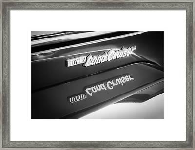 Toyota Land Cruiser Emblem  Framed Print by Jill Reger