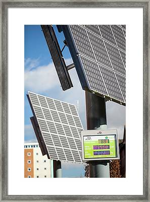 Tracking Solar Voltaic Panels Framed Print by Ashley Cooper