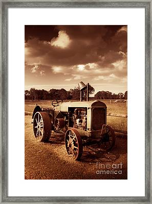 Tractor From Yesteryear Framed Print by Jorgo Photography - Wall Art Gallery