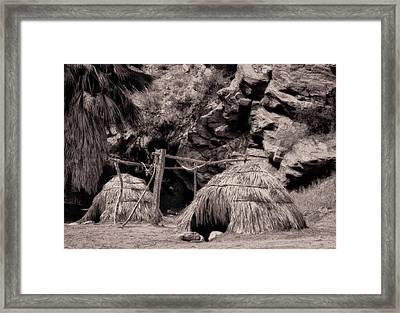 Traditional Cahuilla Indian Huts Framed Print by Sandra Selle Rodriguez