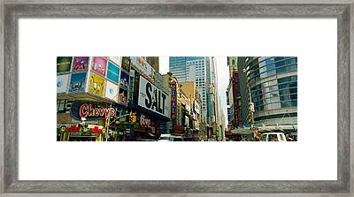Traffic In A City, 42nd Street, Eighth Framed Print by Panoramic Images