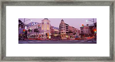 Traffic On The Road, Rodeo Drive Framed Print by Panoramic Images
