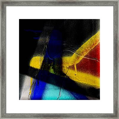 Train Art Abstract Framed Print by Carol Leigh