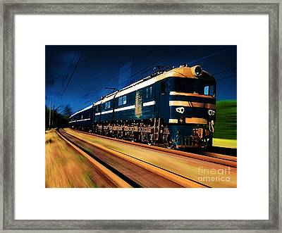 Train Painting Framed Print