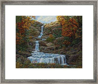 Tranquil Cove Framed Print by Crista Forest