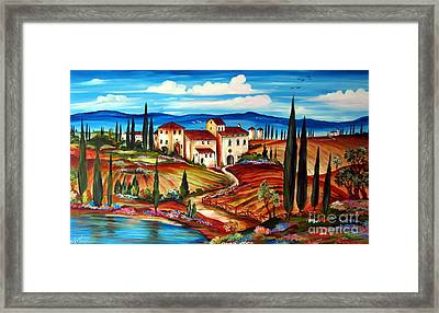 Tranquillita' Toscana Framed Print
