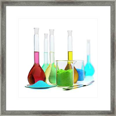 Transition Element Salts Framed Print by Science Photo Library