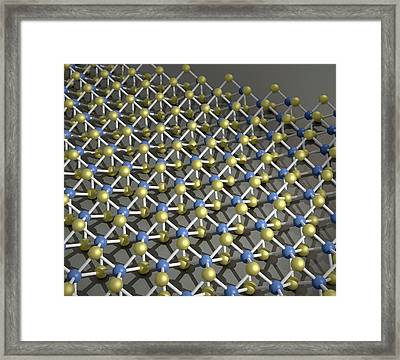 Transition Metal Dichalcogenide Monolayer Framed Print