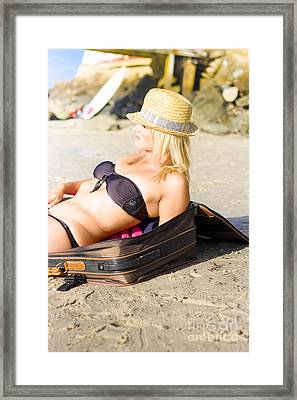 Travel Holidays And Vacations Concept Framed Print