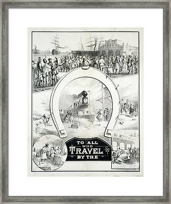 Travel Poster, C1882 Framed Print by Granger