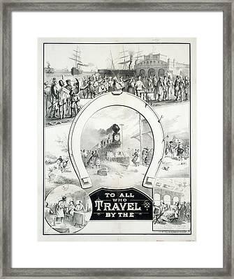 Travel Poster, C1882 Framed Print