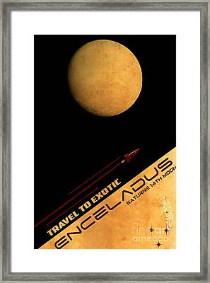 Travel To Enceladus Framed Print by Cinema Photography