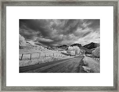 Traveling Down Framed Print