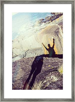 Travelling Tourist Celebrating Amazing Holiday Framed Print by Jorgo Photography - Wall Art Gallery