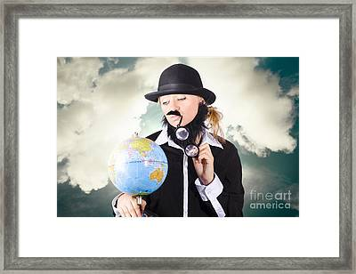 Travelling Tourist Planning Global World Tour Framed Print by Jorgo Photography - Wall Art Gallery