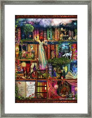 Treasure Hunt Book Shelf Framed Print by Aimee Stewart