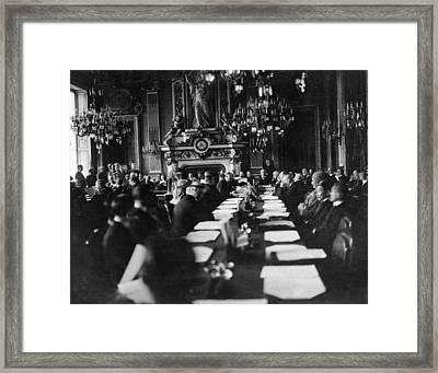 Treaty Of Versailles, 1919 Framed Print by Granger