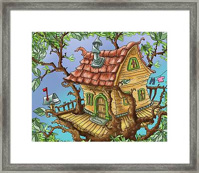 Tree House Framed Print by Hank Nunes