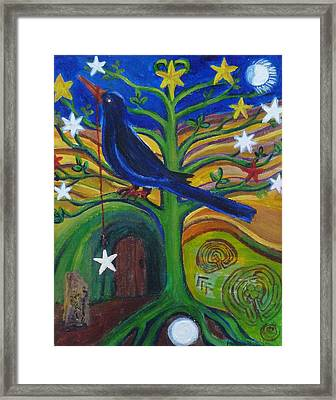 Tree Of Stars Framed Print