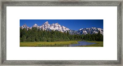Trees Along A River, Near Schwabachers Framed Print by Panoramic Images