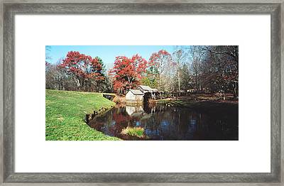 Trees Around A Watermill, Mabry Mill Framed Print
