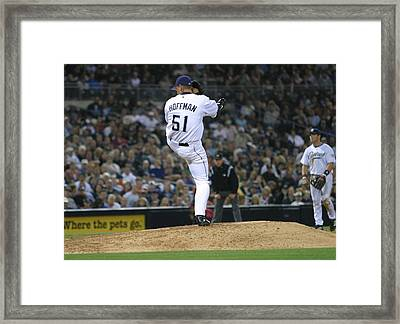 Framed Print featuring the photograph Trevor Hoffman by Don Olea