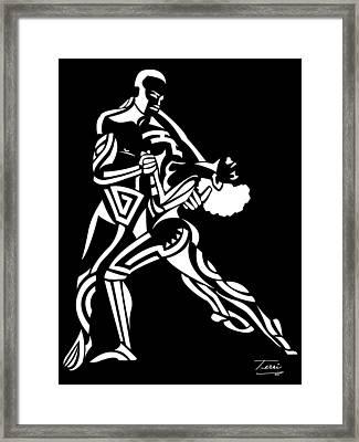 Tribal Dance Framed Print by Terri Meredith