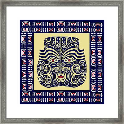 Marquesas Tribal Spirits Framed Print by Vagabond Folk Art - Virginia Vivier