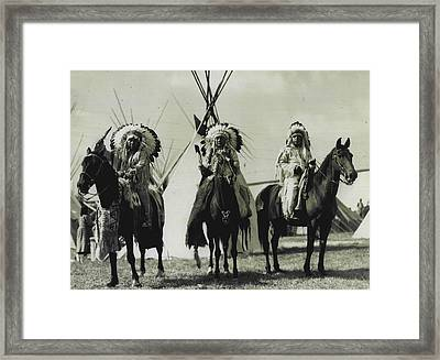 Trible Leaders  Framed Print by Retro Images Archive