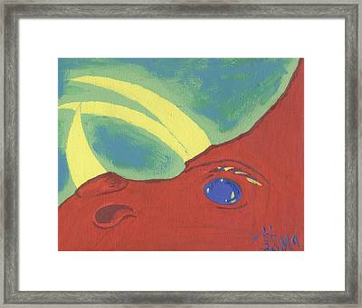 Triceratops Framed Print by Yshua The Painter