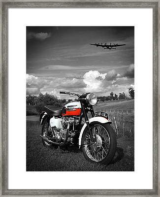 Triumph Bonneville T120 Framed Print by Mark Rogan