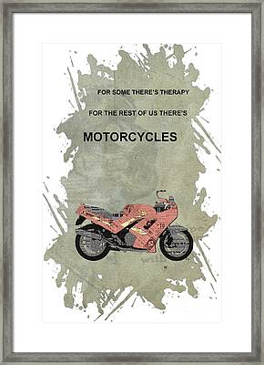 Triumph Daytona 1000 1992 Collage - Motorcycles Quote Framed Print