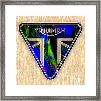 Triumph Motorcycles Framed Print by Marvin Blaine