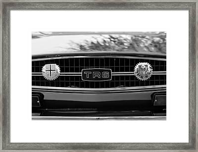 Triumph Tr 6 Grille Emblem Framed Print