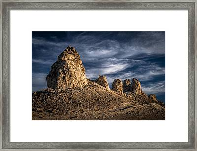 Trona Pinnacles Framed Print by Cat Connor