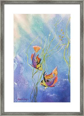 Tropical Fantasy Iv Framed Print by Laura Lee Zanghetti