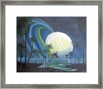 Tropical Moon Framed Print