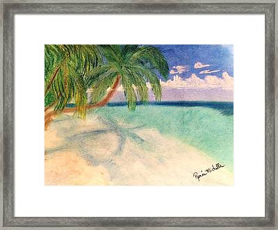 Tropical Shores Framed Print by Renee Michelle Wenker