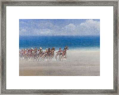Trotting Races, Lancieux, Brittany Framed Print by Lincoln Seligman