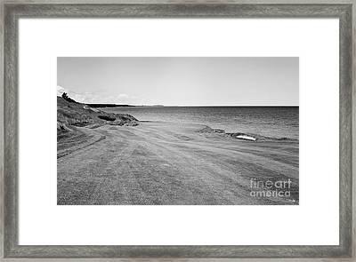 Trouble On The Right Side Framed Print by Scott Pellegrin