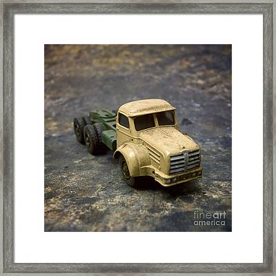 Truck Toy Framed Print