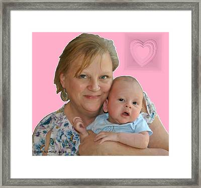 Trudy And Zachary Framed Print by Bruce Nutting