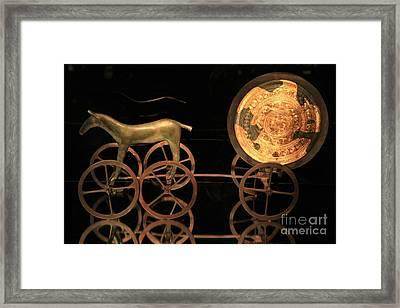 Trundholm Sun Chariot, Bronze Age Framed Print by Detlev van Ravenswaay