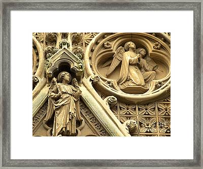 Framed Print featuring the photograph Truro Cathedral by Rachel Mirror