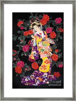 Tsubaki Framed Print by Haruyo Morita