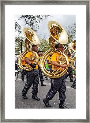 Tuba Brigade Framed Print
